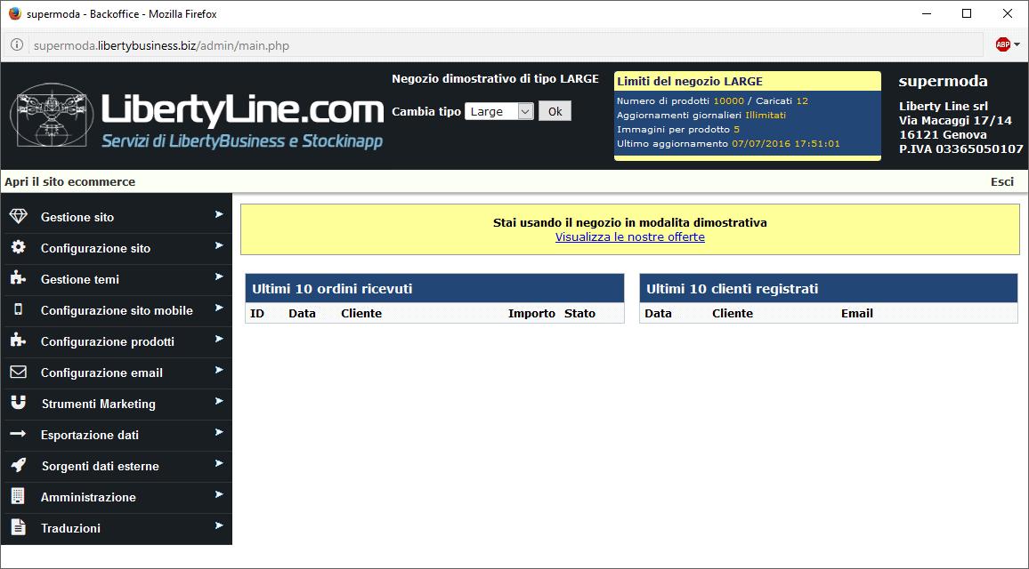 Fare E-commerce con LibertyCommerce