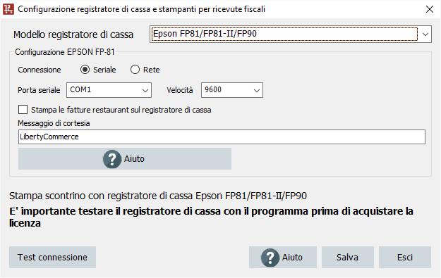 Configurazione EPSON FP-81