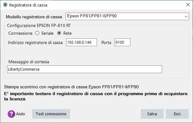 Configurazione ESPON