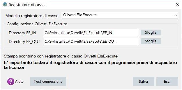 Olivetti configurazione